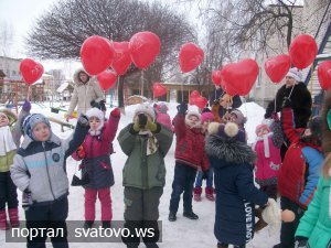Як пройшов День святого Валентина в дитячих садках. Новини відділу освіти Сватове