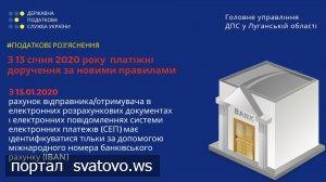 З 13 січня 2020 року платіжні доручення за новими правилами. Новини ГУ ДПС у Луганській області