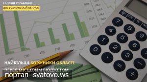 Найбільші боржники області перед місцевим бюджетом.