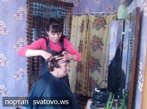 У територіальному центрі соціального обслуговування тепер можна зробити зачіску. Новини Сватівської Райдержадміністрації